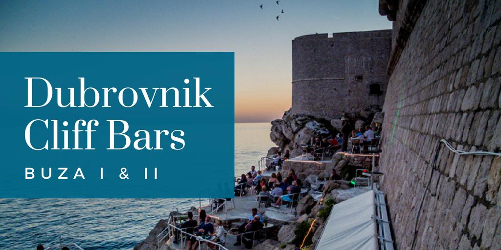 Cliff Bars Like Buza Bar Are A Must Do In Dubrovnik Croatia
