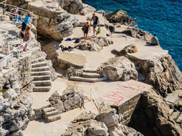 Buza I - one of Dubrovnik's cliff bars