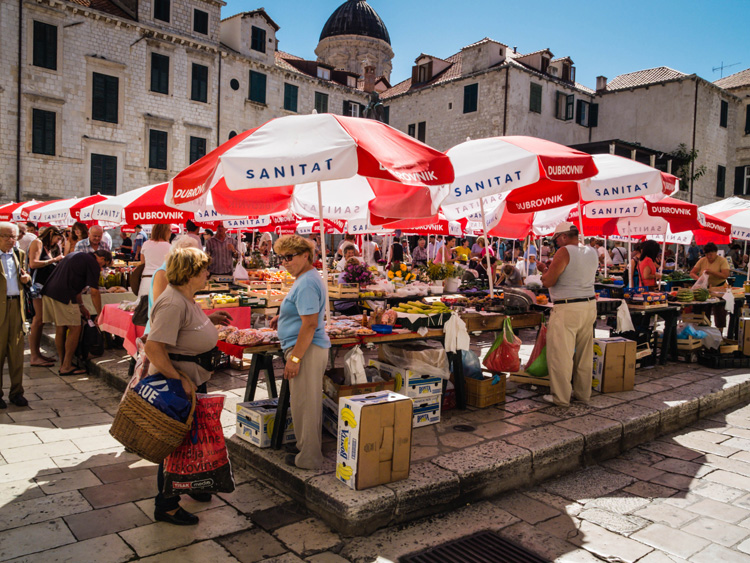 The Market in Dubrovnik | SuitcaseandHeels.com