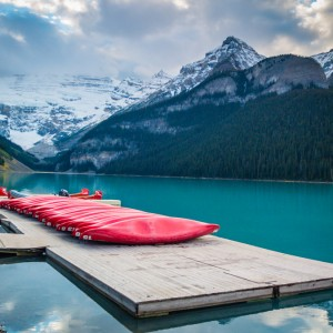 Canoes at Lake Louise | SuitcaseandHeels.com