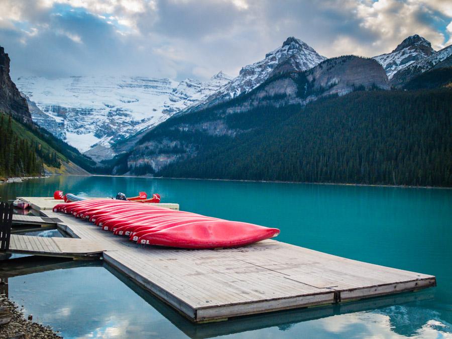 Canoes at Lake Louise | SuitcaseandHeels.com