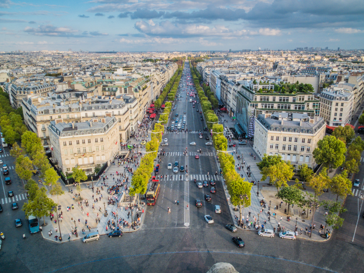 Champs Elysees, Paris | Suitcase and Heels