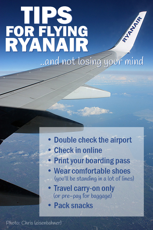 Tips for Flying Ryanair | SuitcaseandHeels.com