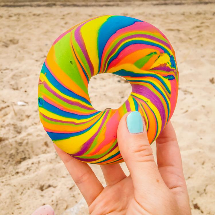 Rainbow Bagels in Brooklyn | Suitcaseandheels.com