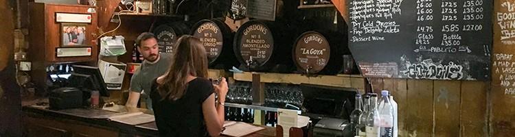 Gordon's Wine Bar in London | SuitcaseandHeels.com