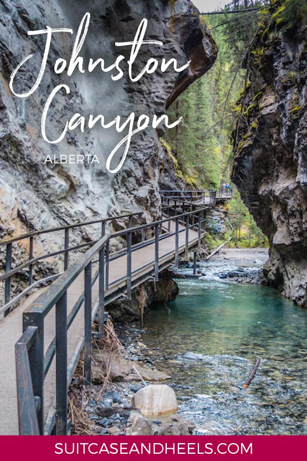 Johnston Canyon Alberta   SuitcaseandHeels.com