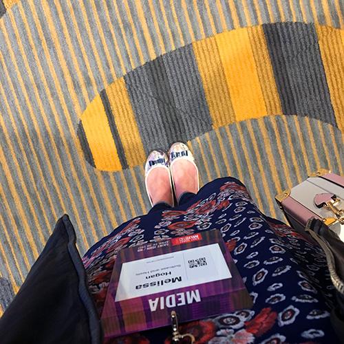 ECMA Media Pass and hotel carpet