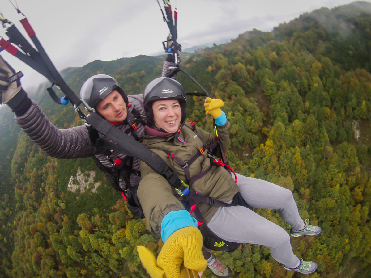 Paragliding in Slovenia with 3glav Adventures