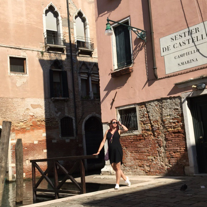 Suitcase and Heels in Venice