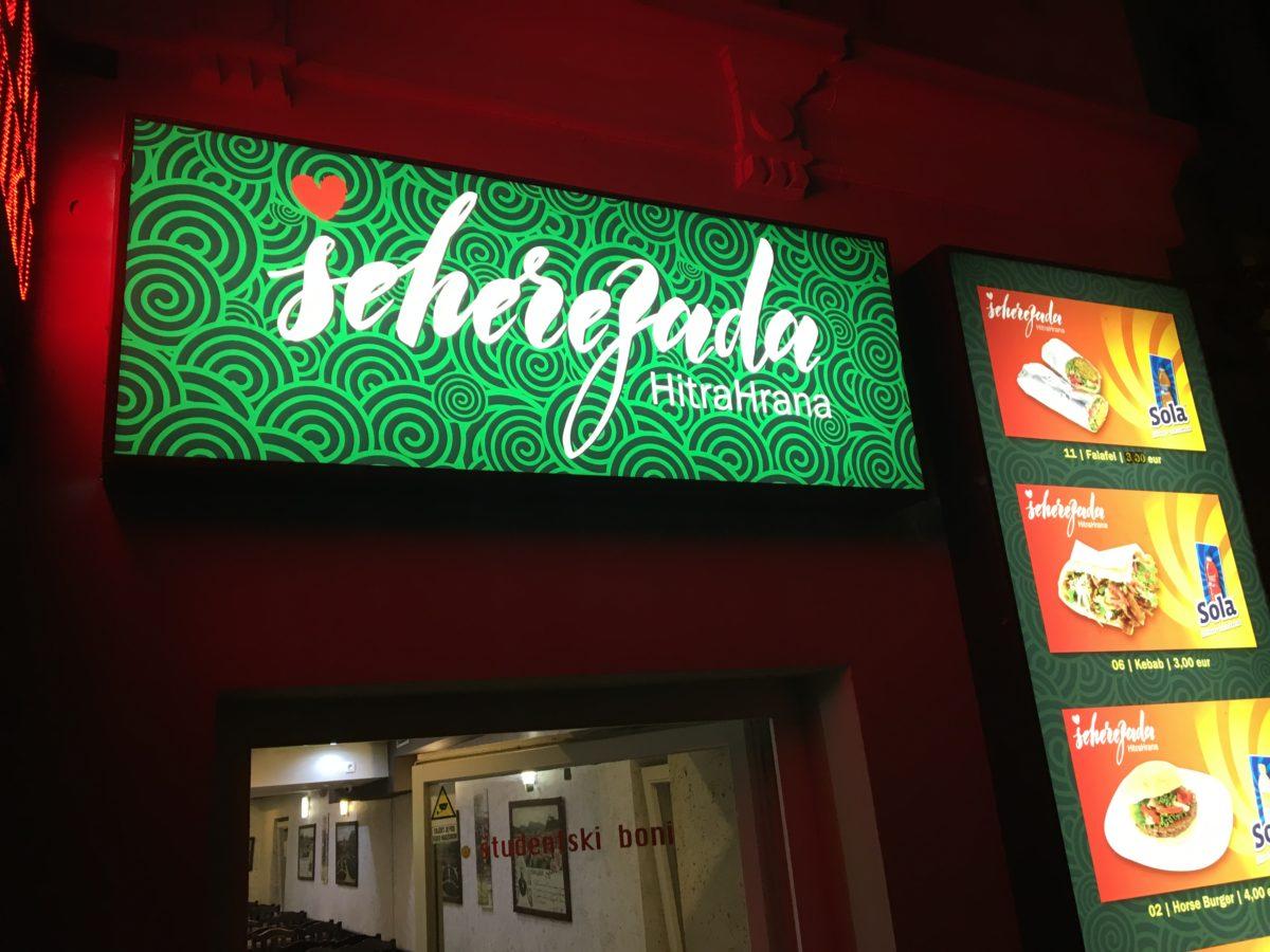 Horse meat restaurant in Ljubljana