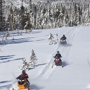 Snowmobiling in Newfoundland