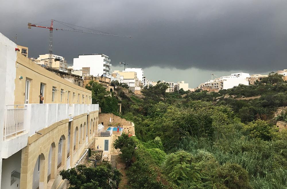 Rain in Malta