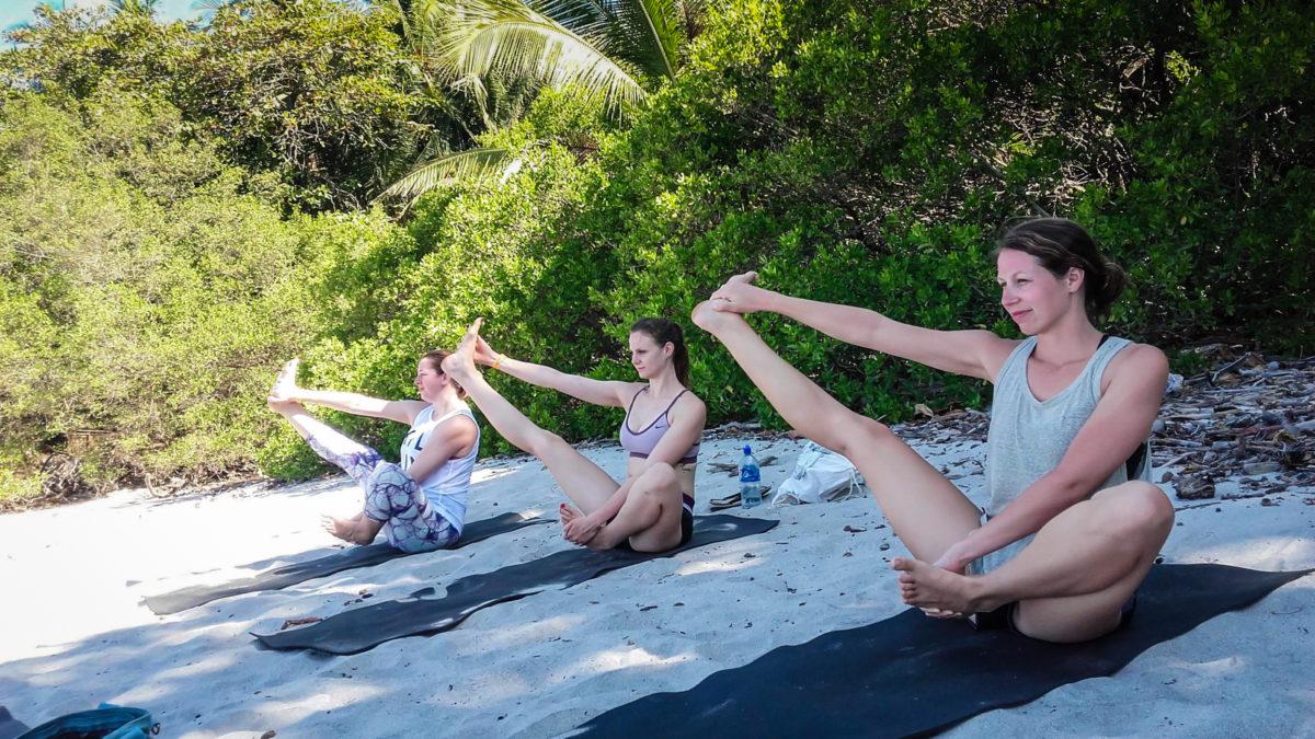 Beach yoga in Santa Teresa