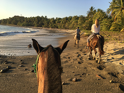horseback riding in Santa Teresa