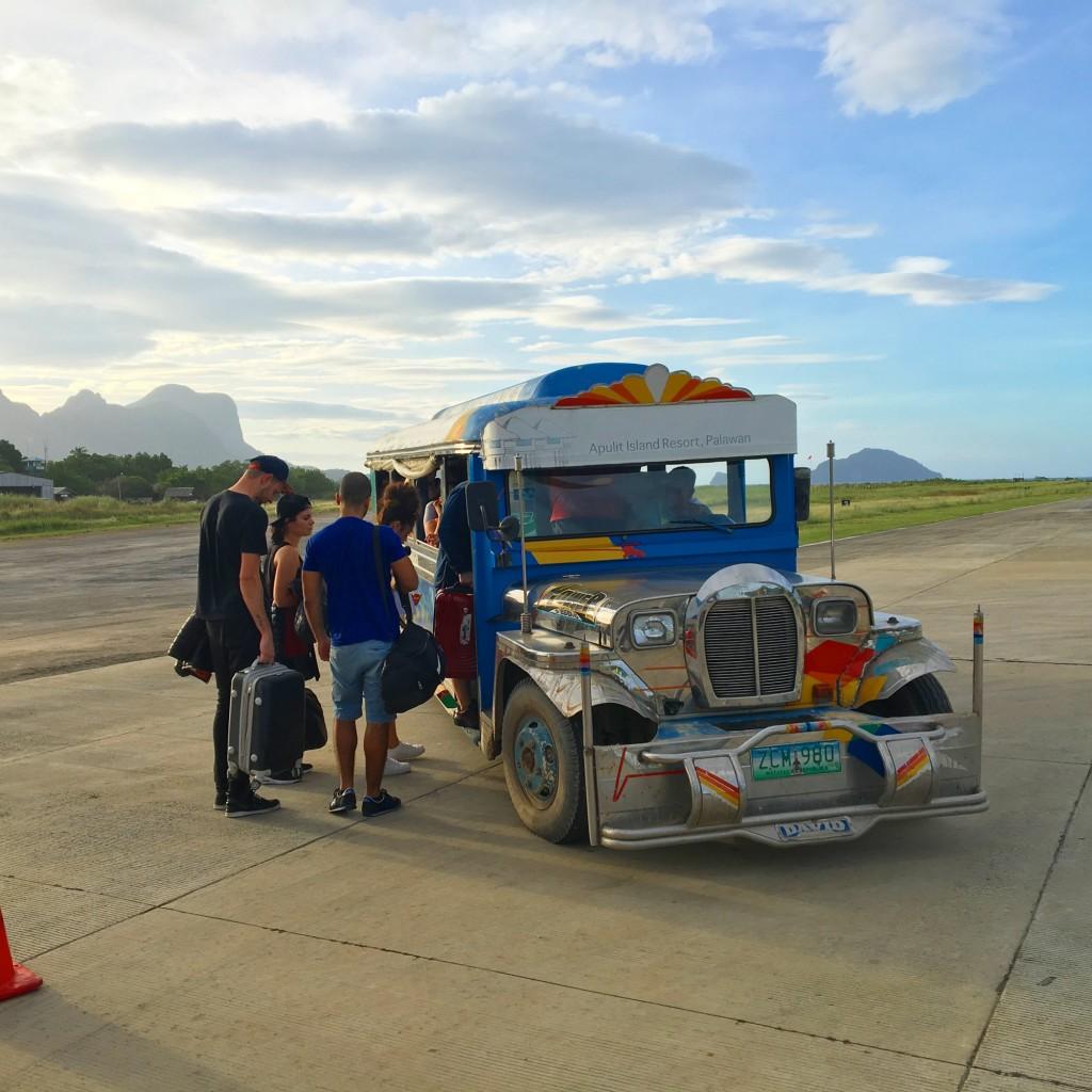Jeepney at the El Nido Airport
