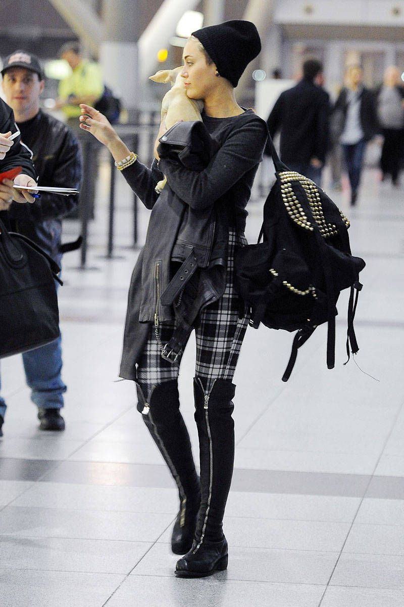 Celebrity Airport Style - Miley Cyrus